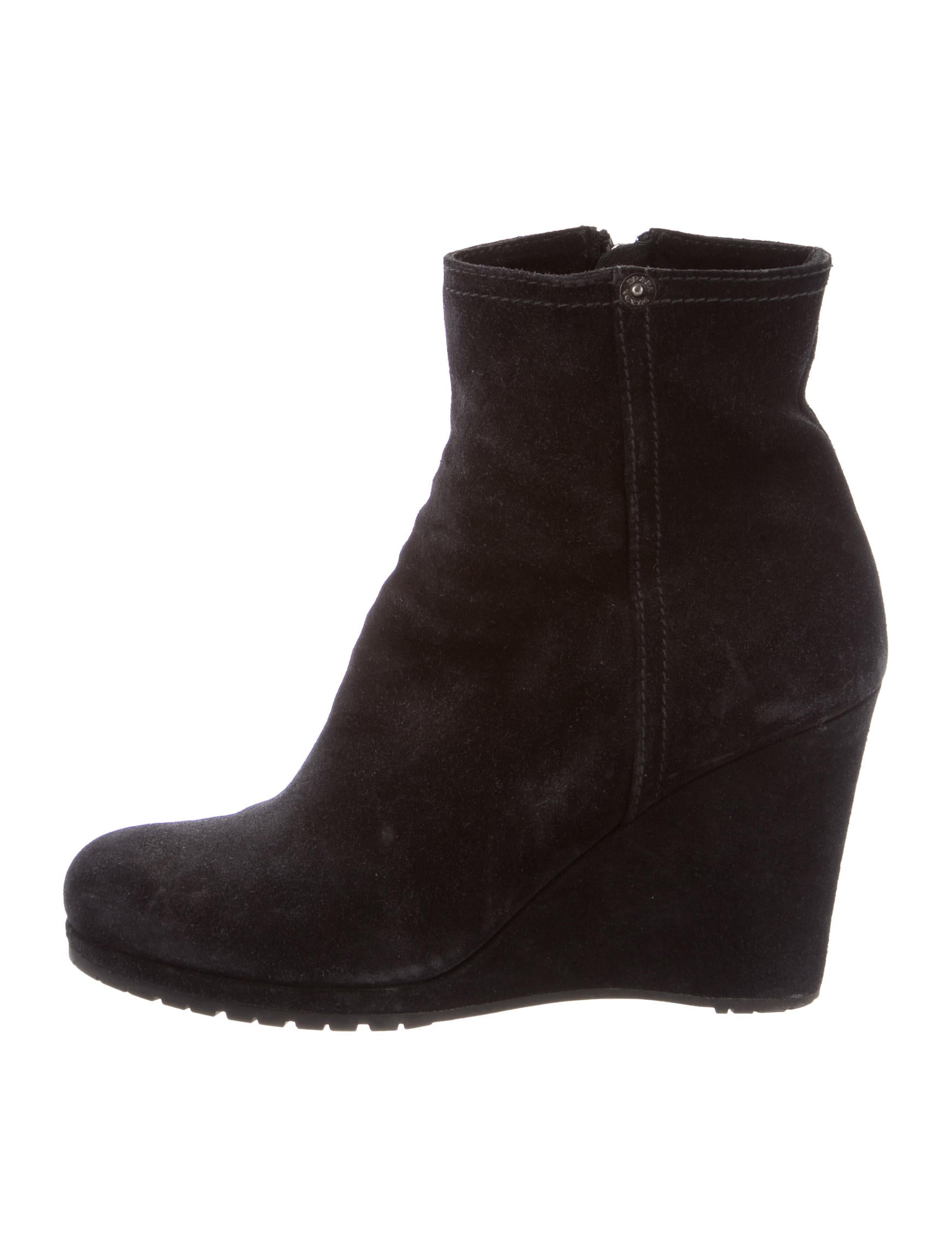 prada suede toe ankle boots shoes pra93743 the