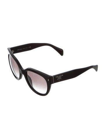 Oversize Logo Sunglasses
