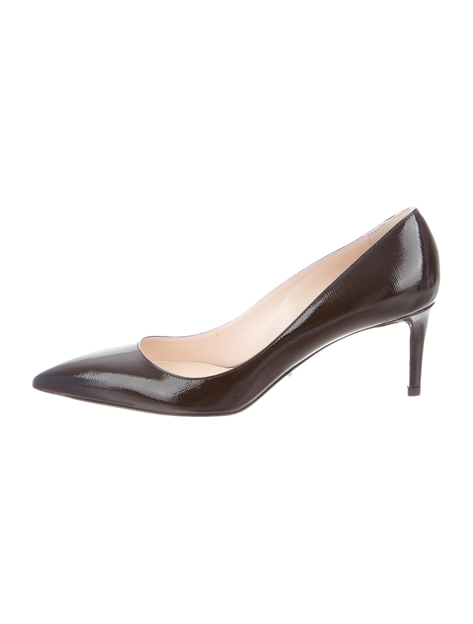 4e4466f7b90d Prada Saffiano Leather Pointed-Toe Pumps w  Tags - Shoes - PRA96441 ...