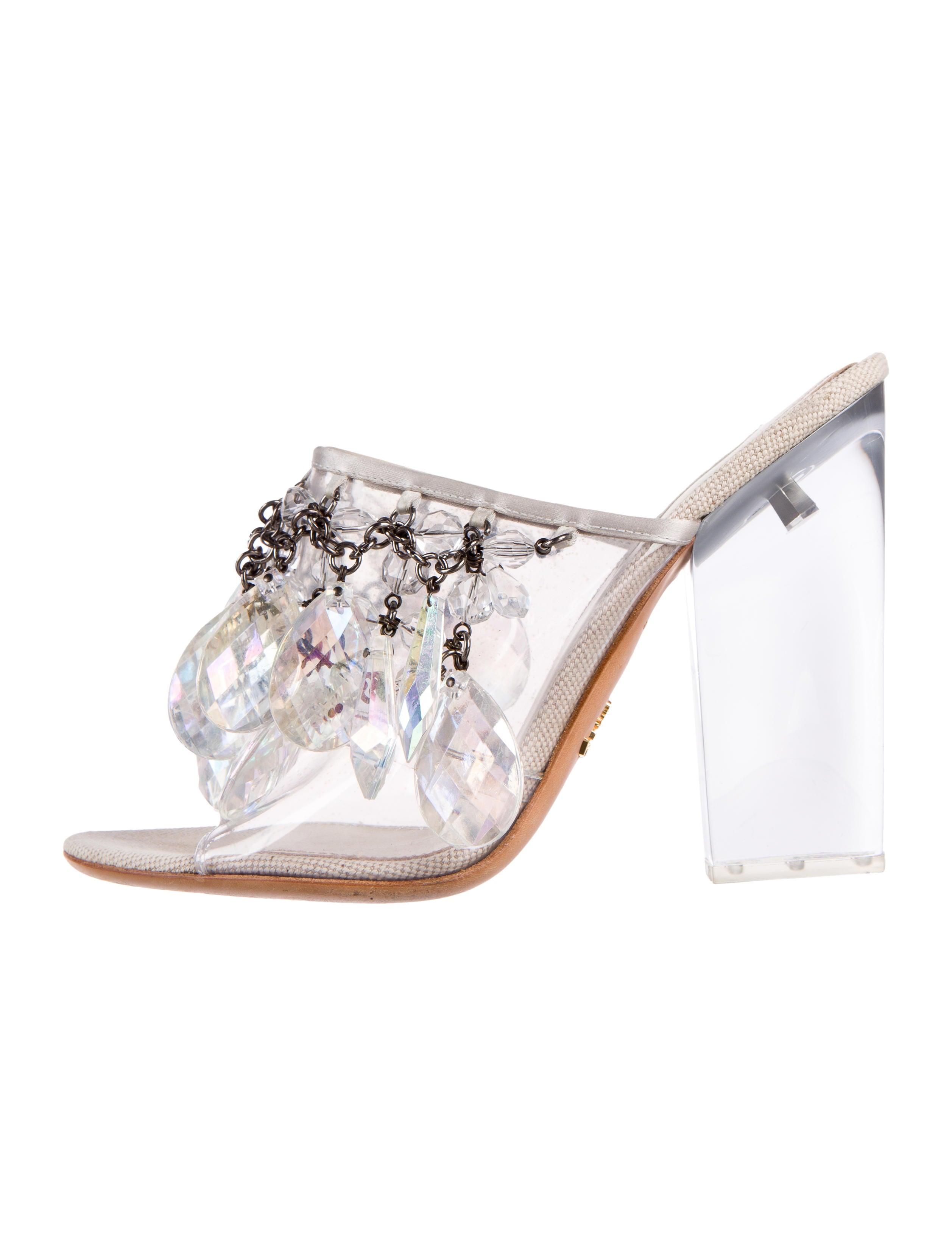 deb2016bb675e4 Prada Chandelier Slide Sandals - Shoes - PRA97208