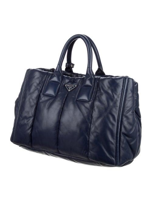 9fe753ed6340 Prada Bomber Nappa Leather Tote - Handbags - PRA97440 | The RealReal