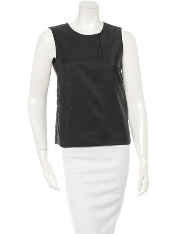Prada Sleeveless Silk Top None
