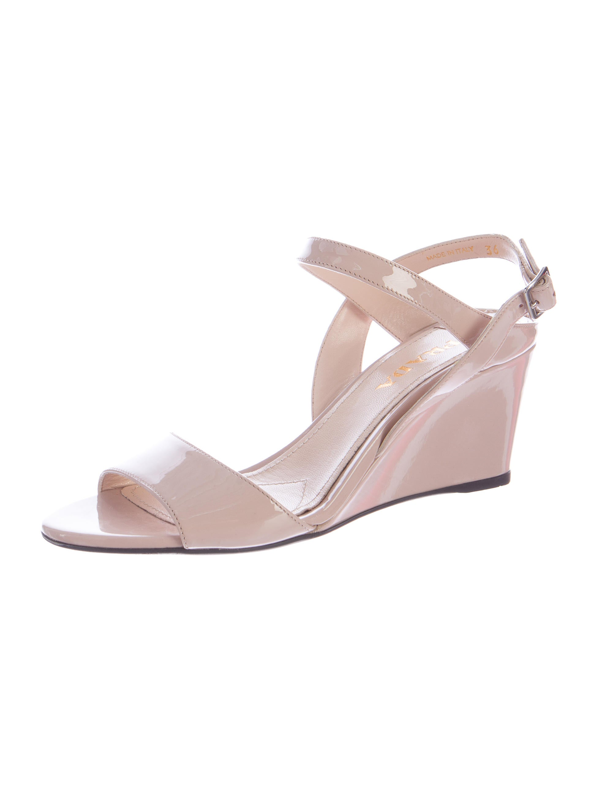 prada patent leather wedge sandals shoes pra99295