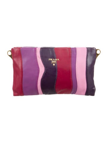 Nappa Stripes Clutch