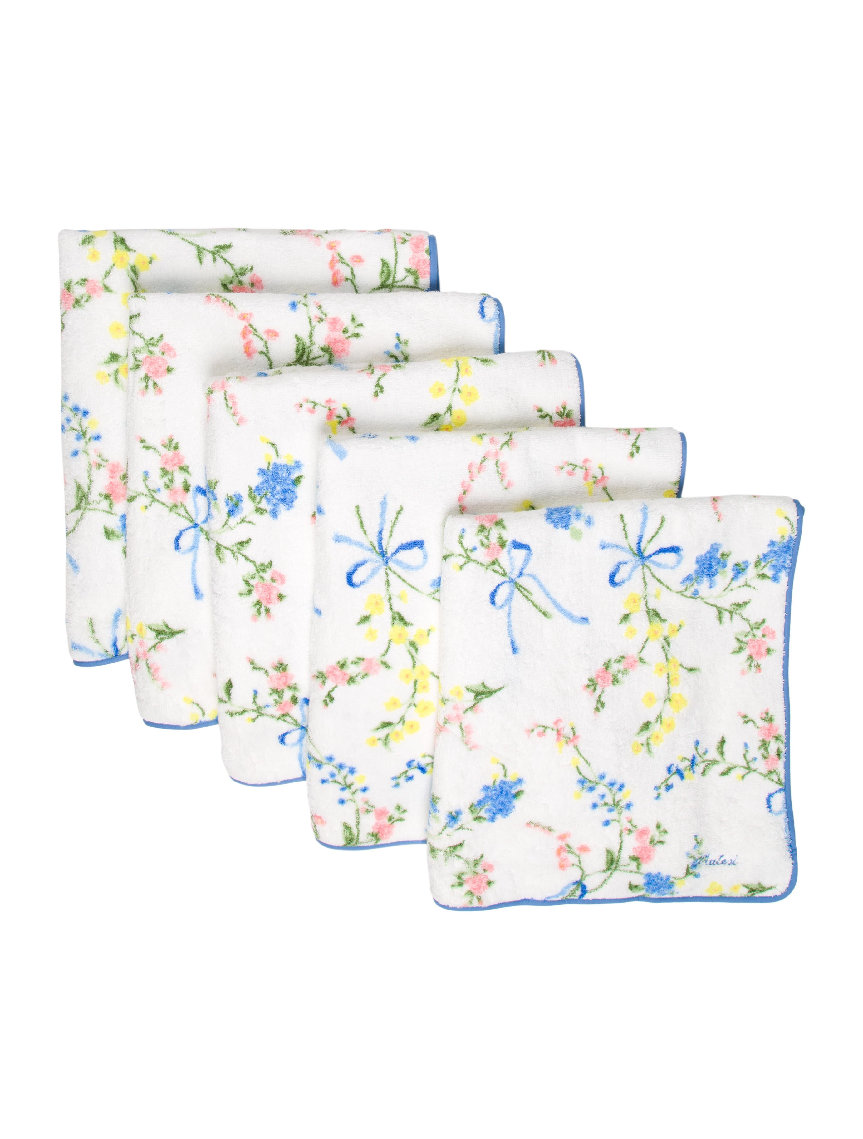 Pratesi Floral Bath Towels W Tags Bedding And Bath Prate20027 The Realreal