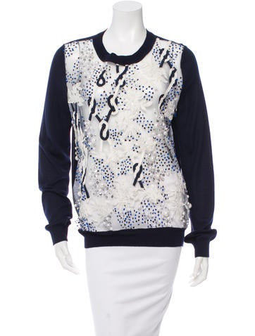 Prabal Gurung Embellished Wool & Silk-Blend Sweater