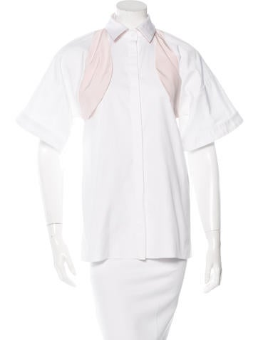 Prabal Gurung PCV & Leather Harness Top w/ Tags