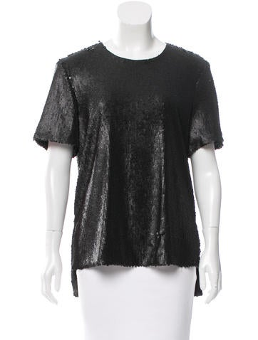Prabal Gurung Sequined High-Low Top w/ Tags