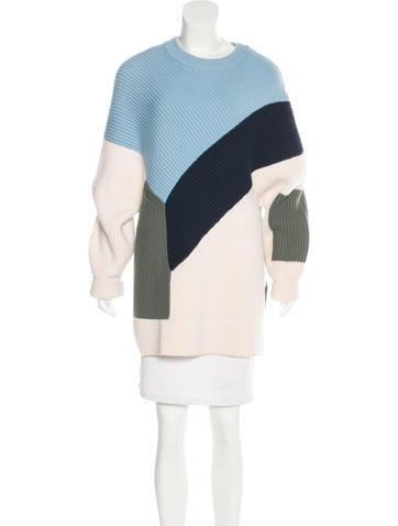 Prabal Gurung Rib Knit Wool Sweater None