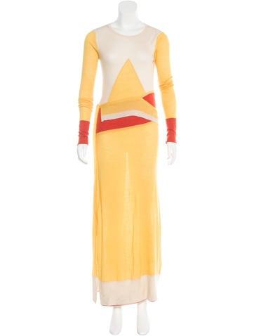 Prabal Gurung Cashmere Colorblock Dress None