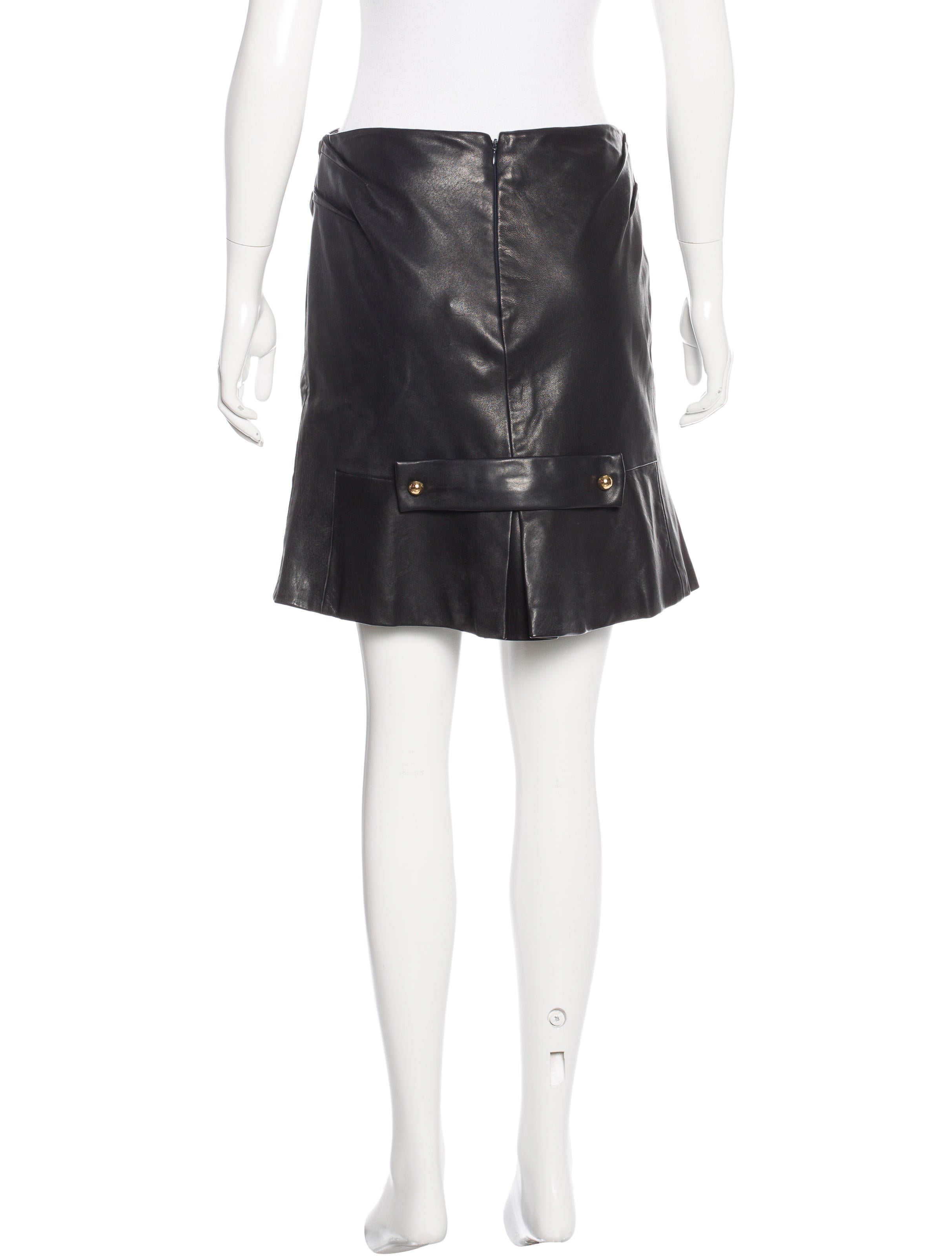 prabal gurung leather skirt clothing prb21524 the