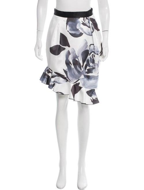 Prabal Gurung Ruffle Hem Tulip Skirt w/ Tags White