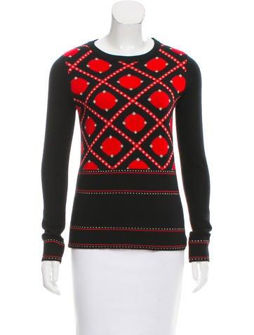 Prabal Gurung Jacquard Wool Sweater w/ Tags None