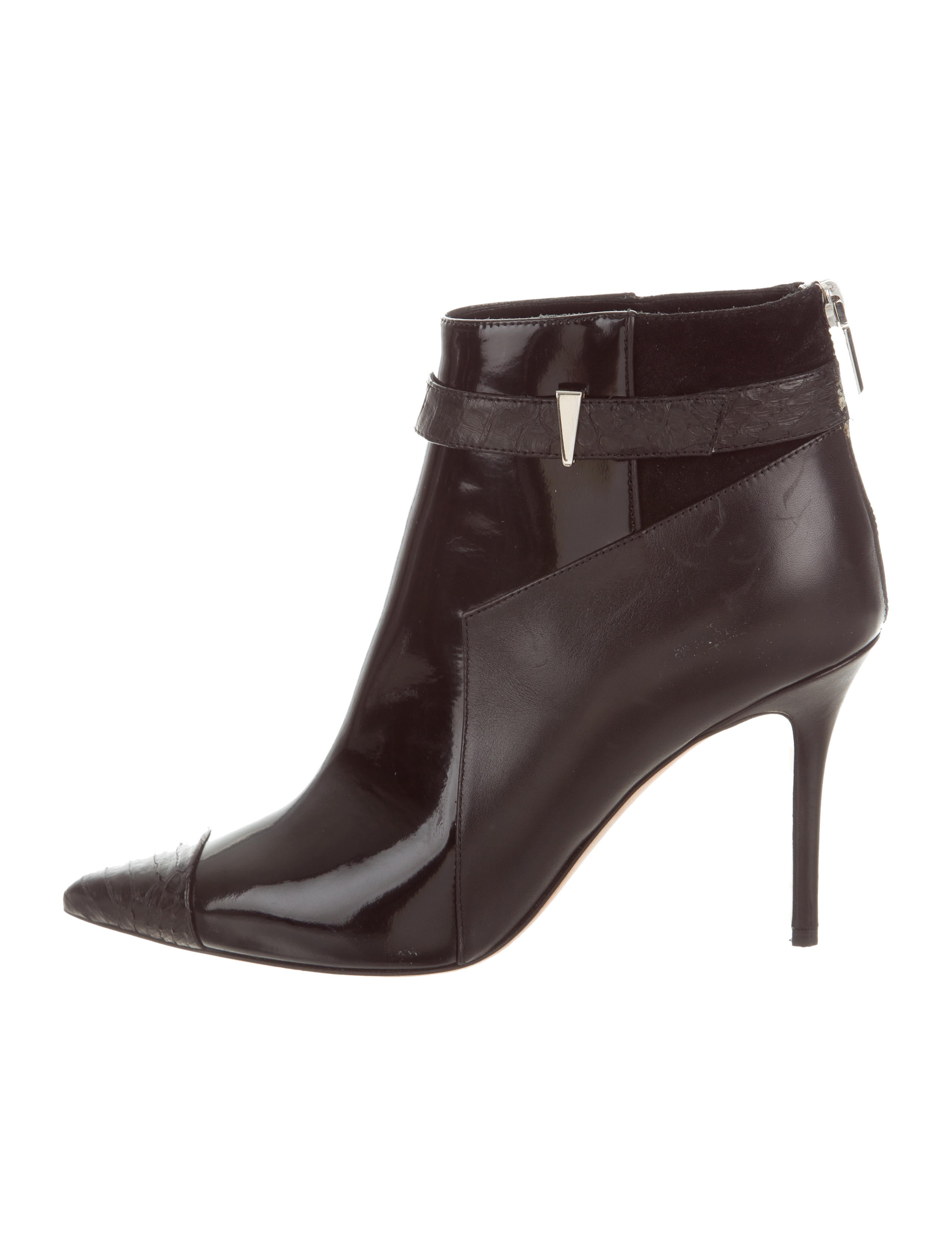 amazing price online largest supplier sale online Prabal Gurung Point-Toe Leather Ankle Boots ED7W9XKhR