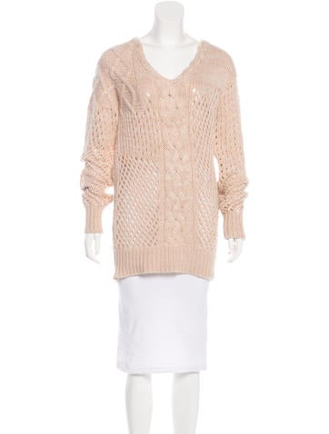 Prabal Gurung Cable Knit Cashmere Sweater None