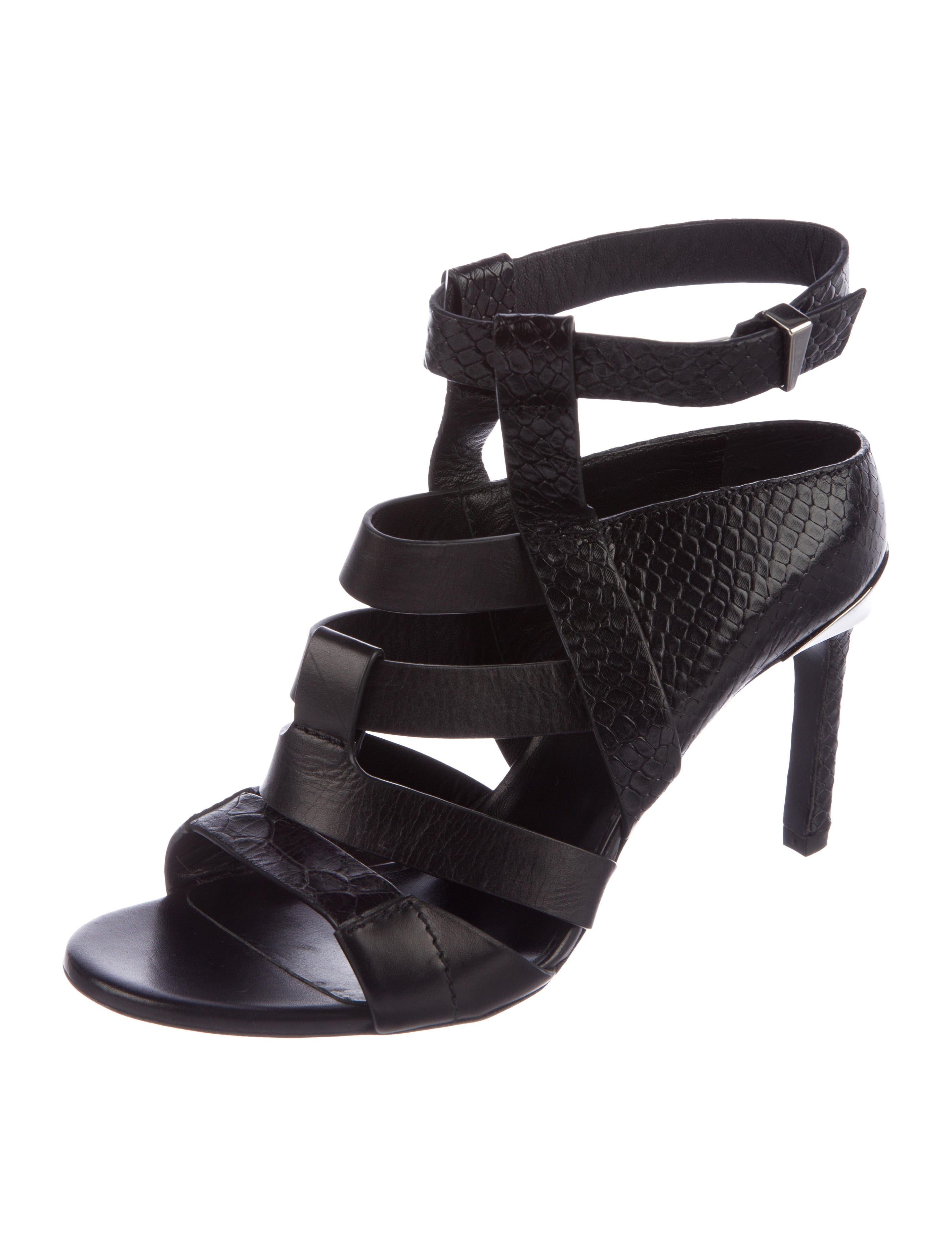 clearance comfortable discount largest supplier Prabal Gurung Embossed Cage Sandals GQHQlpsJ6