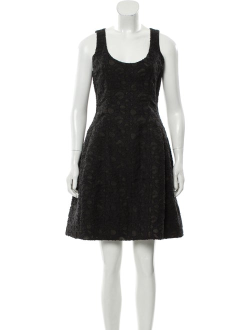 Prabal Gurung Fil-Coupé Mini Dress Black