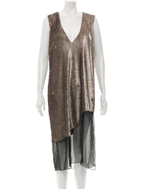 Prabal Gurung Metallic Sequin Dress metallic