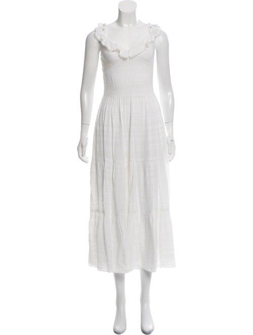 Prabal Gurung Sleeveless Maxi Dress White