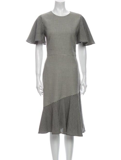 Prabal Gurung Houndstooth Print Midi Length Dress