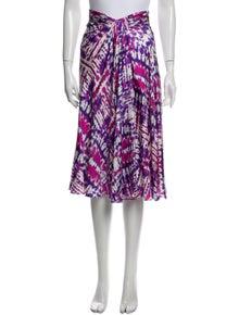 Prabal Gurung Silk Midi Length Skirt