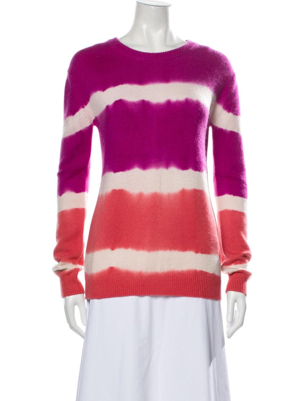 Prabal Gurung Cashmere Tie-Dye Print Sweater Purp… - image 1
