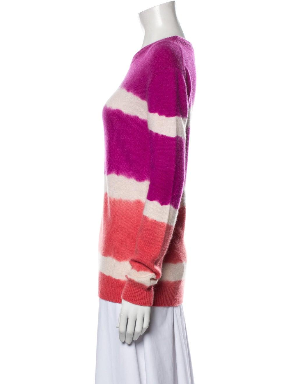 Prabal Gurung Cashmere Tie-Dye Print Sweater Purp… - image 2