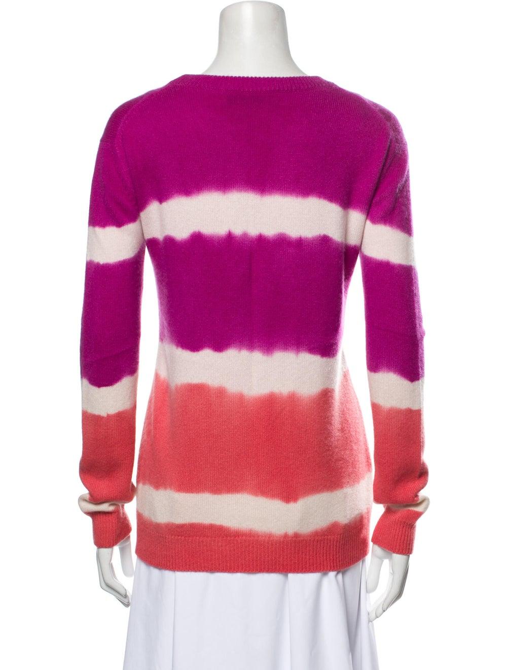 Prabal Gurung Cashmere Tie-Dye Print Sweater Purp… - image 3