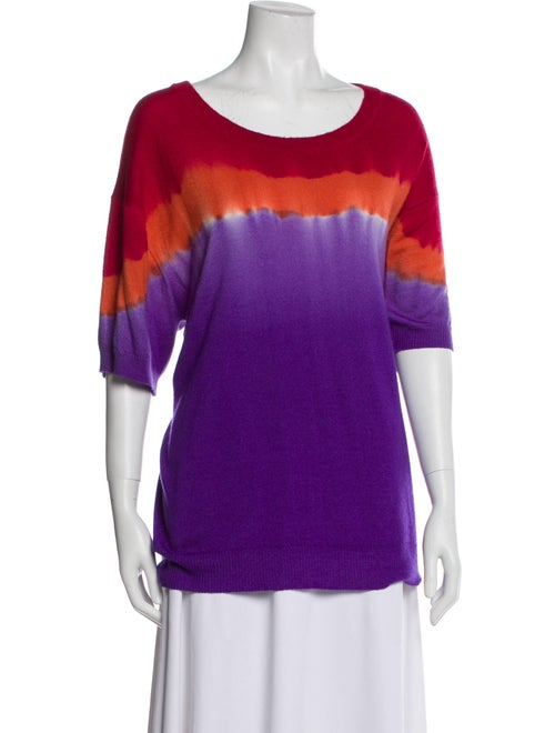 Prabal Gurung Cashmere Tie-Dye Print Sweater Purpl