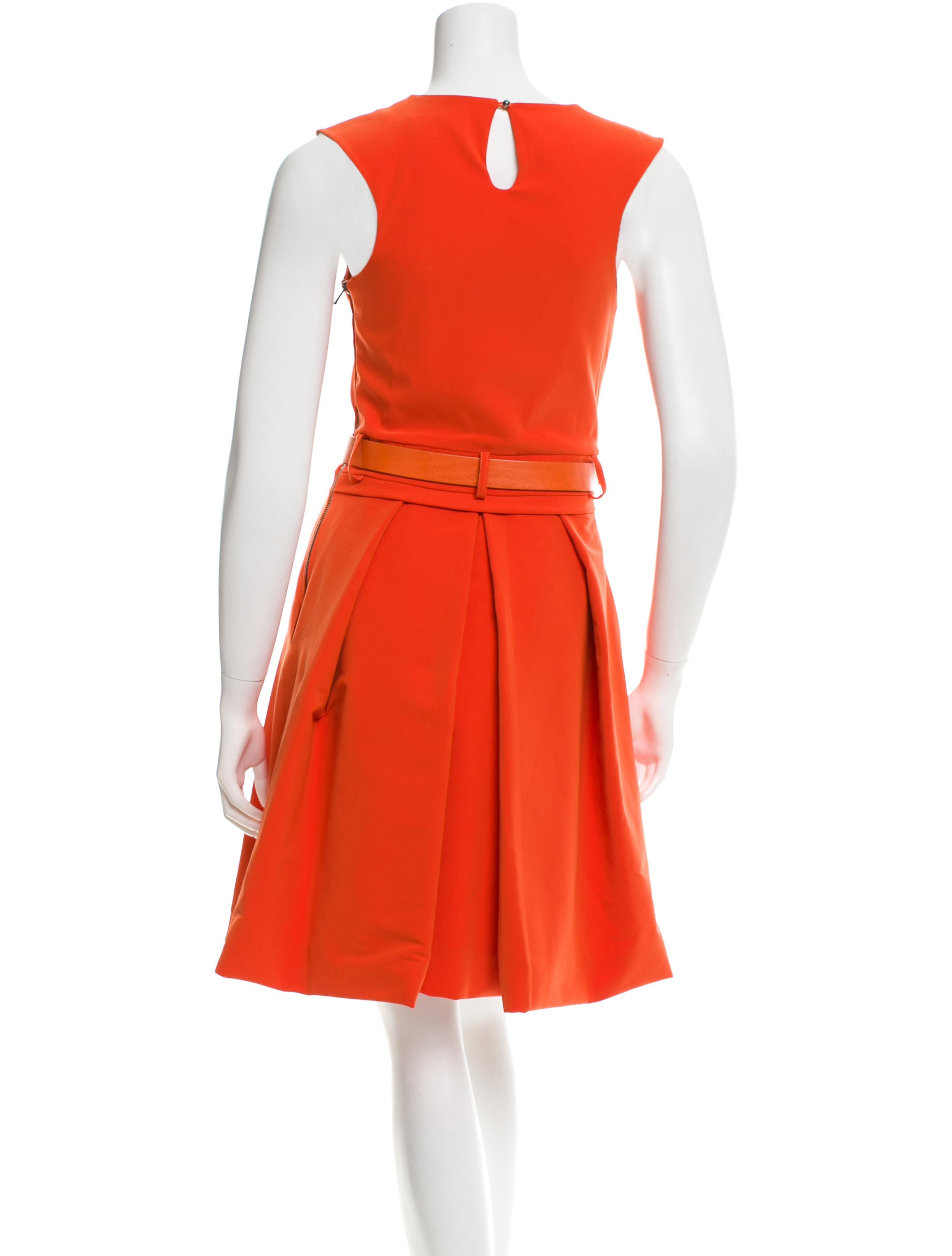 preen belted a line dress clothing pre20919 the realreal