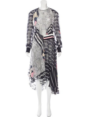 Preen 2015 Striped Midi Dress w/ Tags