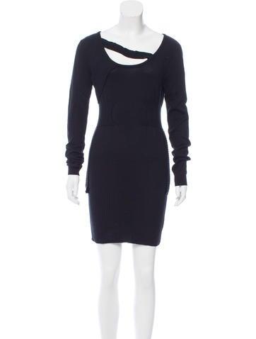 Preen Silk-Blend Sweater Dress None