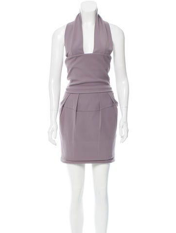 Preen Halter Knee-Length Dress w/ Tags None
