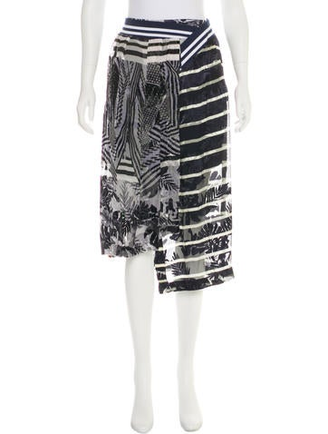 Preen Asymmetrical Midi Skirt None