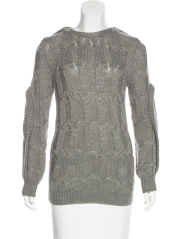 Preen Wool-Blend Cable Knit Sweater None