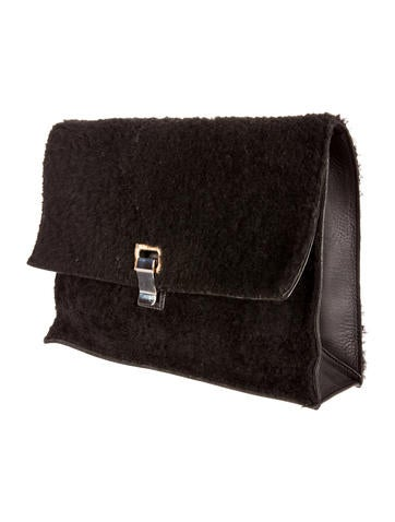 Shearling Large Lunch Bag Clutch