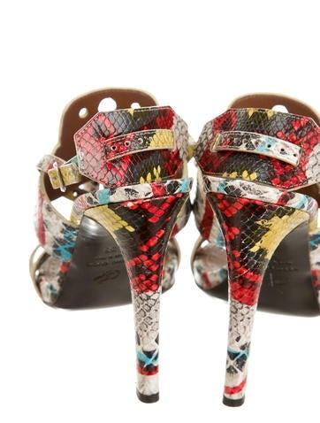 Tribal Slingback Sandals
