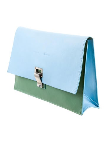 Bicolor Lunch Clutch