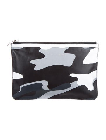 Camouflage Leather Clutch