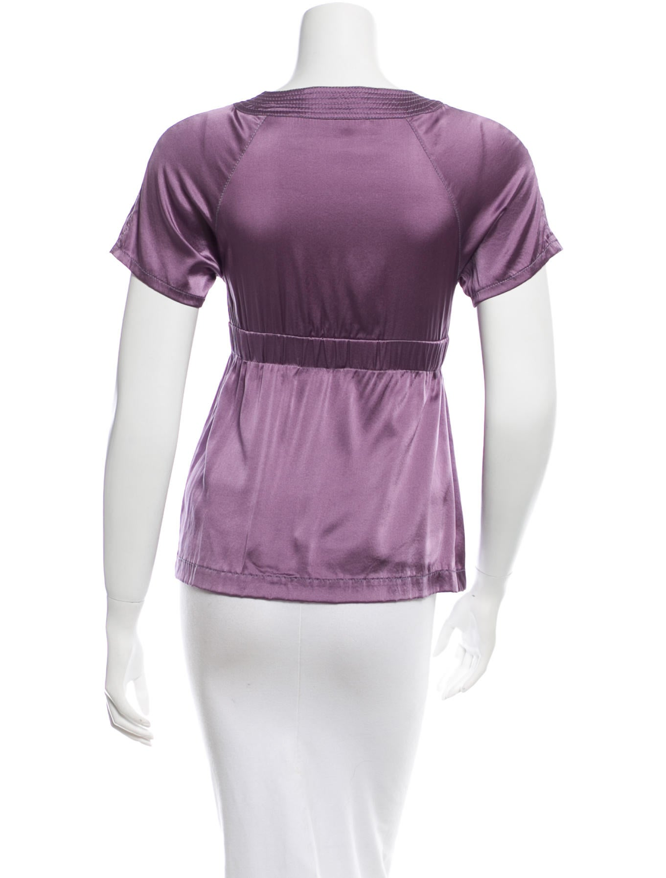 V Neck Silk Blouse 103