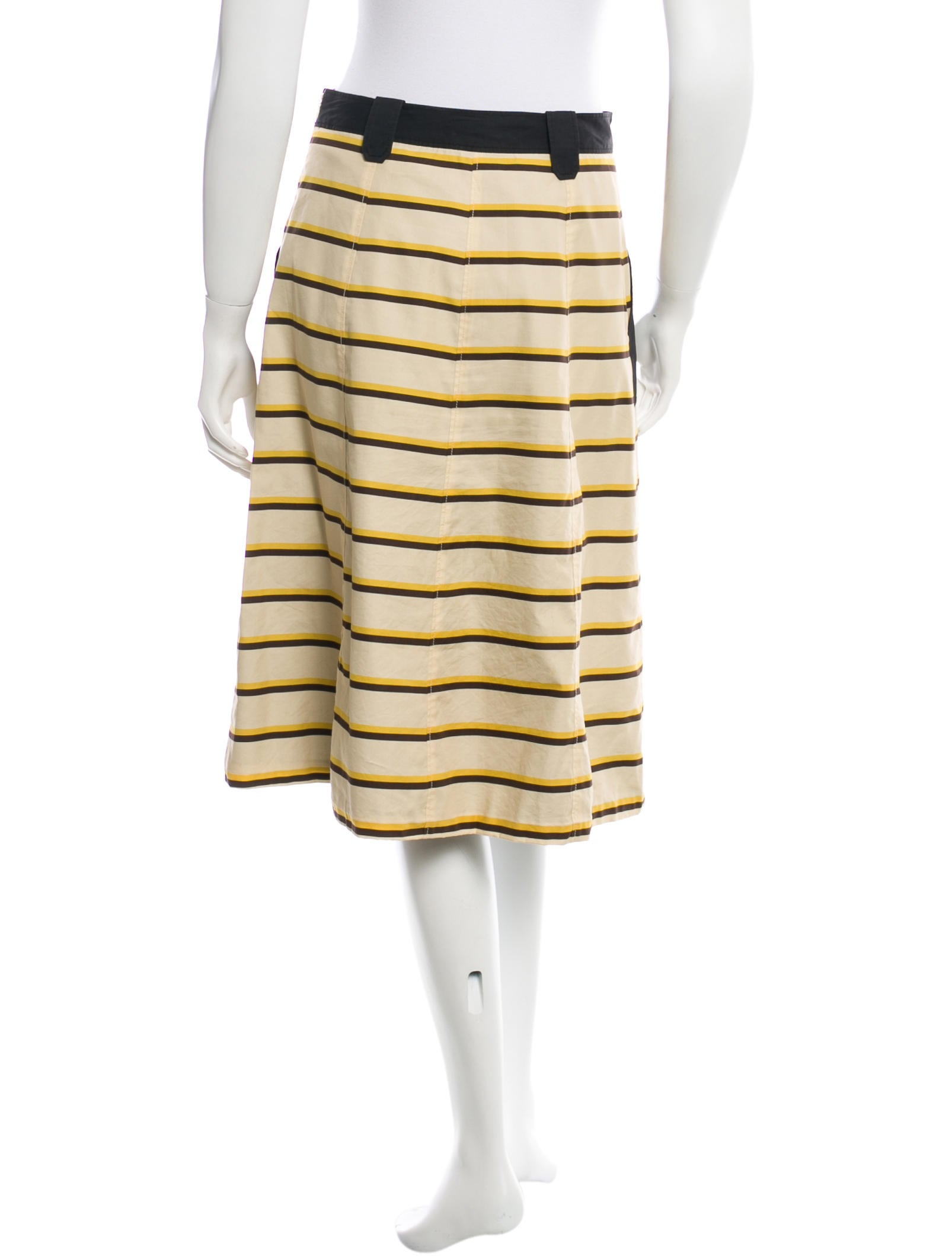 proenza schouler striped a line skirt clothing