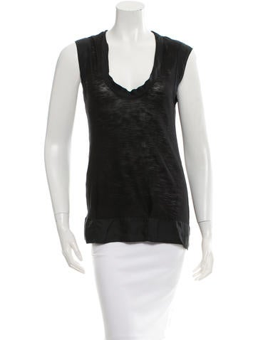 Proenza Schouler Sleeveless Silk Top None