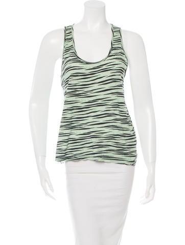 Proenza Schouler Sleeveless Zebra Print Top None