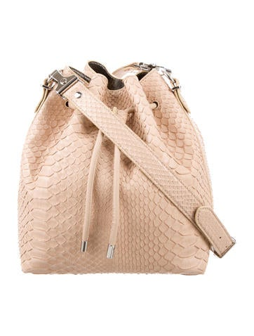 Medium Python Bucket Bag w/ Tags
