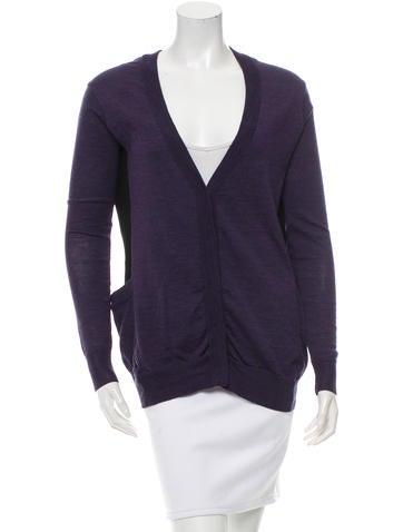 Proenza Schouler Long Sleeve Wool Cardiganc None