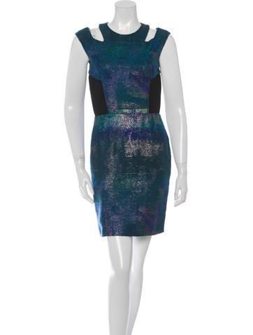 Proenza Schouler Metallic Brocade Dress None