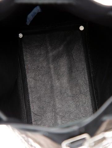 Python-Trimmed Medium Bucket Bag