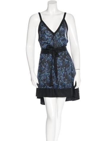 Proenza Schouler Silk-Blend Printed Dress None