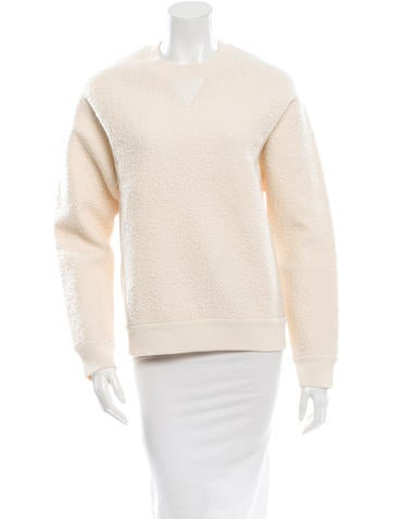 Proenza Schouler Leather-Accented Crew Neck Sweater None