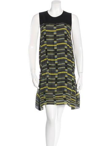 Proenza Schouler Silk Printed Dress None